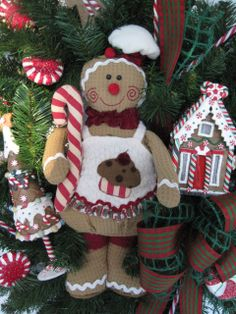 GINGERBREAD BAKER Christmas Holiday Evergreen by funflorals, $150.00