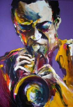 miles Angela King Gallery USA (Peinture),  65x95 cm par Christian Vey