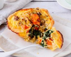 Read our delicious recipe for Easy Ham Cheese & Vegetable Quiche Cups, a recipe from The Healthy Mummy, which is ideal for busy weeknights Healthy Mummy Recipes, Ham Recipes, Quiche Recipes, Veggie Recipes, Healthy Snacks, Vegetarian Recipes, Cooking Recipes, Vegetarian Quiche, Veggie Food