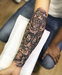 Tattoo Ideen Oberarm Tiger 42 Ideen Ideen Oberarm Tattoo Ideen O. - Tattoo Ideen Oberarm Tiger 42 Ideen Ideen Oberarm Tattoo Ideen O … – Tattoo-I - Tiger Tattoo Sleeve, Lion Tattoo Sleeves, Sleeve Tattoos, Forarm Tattoos, Body Art Tattoos, Small Tattoos, Finger Tattoos, Tattoo Arm, Tattos