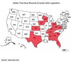 States With Voter Legislation