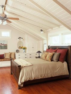 We would love to expand our small home, however we do not want to build so that we have no yard.  We would love to build up and make use of our attic space.  This room is a wonderful, cozy hideaway that would make a great master bedroom.
