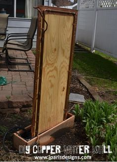 A complete step by step How-To for making a DIY copper water wall to liven up your outdoors for the warm summer months.