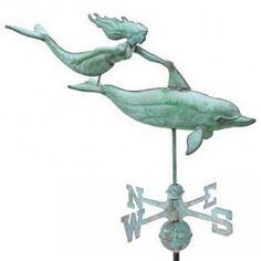 Weathervane - Large Dolphin & Mermaid - Weathervane & Cupola Shop