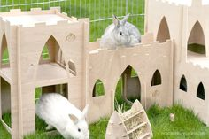 The Castle Package includes the Tower, Bridge, and Keep. Adjustable configurations to fit your rabbit's luxurious lifestyle. All castle components are nail free, strong, and lightweight. It is made of