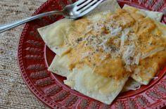 Cheese Ravioli with Pumpkin-Sage Sauce - Three Many Cooks