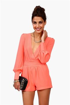 Sultry Romper - Neon Pink