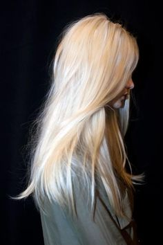 long soft beautiful blonde hair. I am thinking I want to dye my hair blonde again