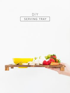 DIY Serving Tray with a Bowl Rest