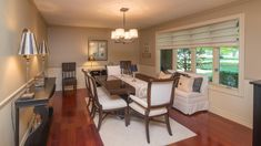 This solid home features Brazilian Cherry hardwood floors in the dining room, solid core doors and new windows. Brazilian Cherry Hardwood Flooring, Brazilian Cherry Floors, Modern Country Kitchens, Living Room Decor, Dining Room, Level Homes, New Homeowner, Storage Spaces, Craftsman