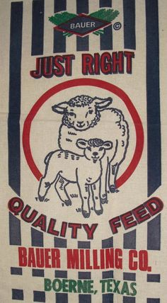 feed sack - Google Search