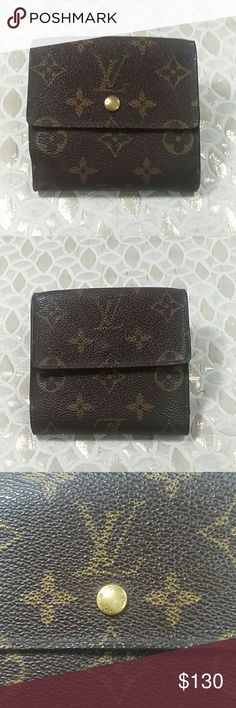 Authentic Louis Vuitton Monogram Trifold Wallet. Canvas and leather showed signs of used. The  wallet was made in the USA with a date code SD 1000. The dimension is 4 and 4. Overall the wallet is in a good preowned condition. Louis Vuitton Accessories