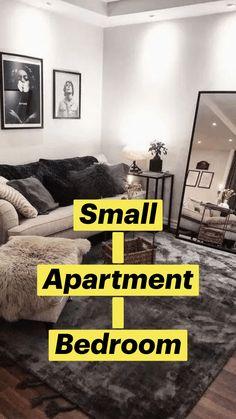 Small Apartment Bedrooms, Apartment Bedroom Decor, Cozy Apartment, Apartment Ideas, Living Room Apartment, Simple Apartment Decor, Apartment Therapy, Studio Apartment Layout, Small Studio Apartments