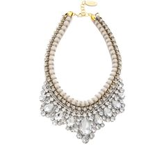 Adia Kibur Crystal Adorned Choker Necklace - White ($85) ❤ liked on Polyvore featuring jewelry, necklaces, accessories, collares, white necklace, choker necklace, choker collar necklace, white collar necklace and braided necklace