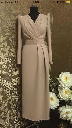 Elegant Dresses For Women, Dressy Dresses, Simple Dresses, Dress Outfits, Fabulous Dresses, Hijab Evening Dress, Hijab Dress Party, Abaya Fashion, Muslim Fashion