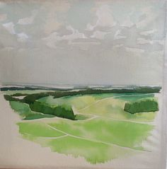 Alresford View  Acrylics on canvas