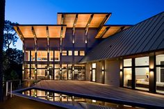"""Christopher Rose Architects designed this stunning Blue Heron Pond Road residence on the north end of Kiawah Island, South Carolina. The architects refer to this home as """"high-tech-meets-Lowcountry"""" – a fitting description for the contemporary Whistler, Vancouver, Beach Houses For Sale, Contemporary Architecture, Contemporary Houses, Exterior Design, Custom Homes, Luxury Homes, House Design"""