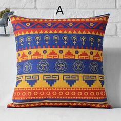 Geometric decorative throw pillows Southeast Asian style sofa cushions 18 inch