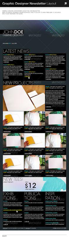 Graphic Designer Newsletter Layout $5.00