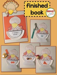 A Turkey Dinner (interactive sight words book) Put the word cards in a serving dish and serve them in a guided reading group!