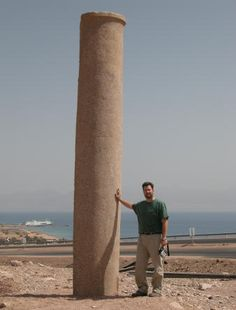 At the site of the Red Sea Crossing, pillars were found, on both sides of the Red Sea.   Isaiah wrote of one of these pillars in Isaiah 19:19.   The pillar, on the Egypt side of the Gulf of Aqaba ( part of the Red Sea ) is shown.