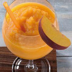 Kiddie Peach Daiquiri Rezept | Küchengötter Sorbet, Peach Daiquiri, Party Time, Beverages, Cooking Recipes, Yummy Food, Fruit, Foods, Virgin Cocktails