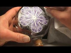 How to Apply Polymer Clay Cane Slices to a Glass Bottle - YouTube
