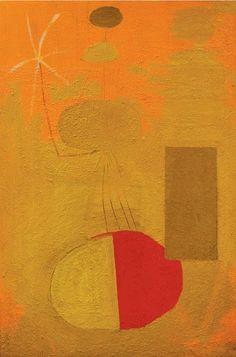 Robert Motherwell Orange Personage circa 1947 Oil on canvas 54 1/4 x 36 1/4 inches