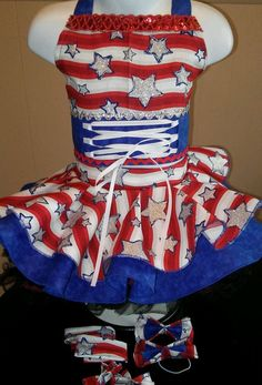 National Pageant Patriotic Sailor Casual Wear  Size 18mos-3t #Handmade #DressyEverydayHoliday Pageant Casual Wear, Pageant Wear, Pageant Dresses, Glitz Pageant, Beauty Pageant, Everyday Holidays, Pageants, Holiday Dresses, Western Wear