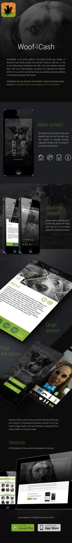 Woof4Cash #Mobile and web #App. More at www.woof4cash.com