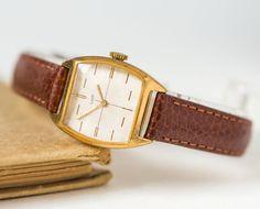 Neat women's watch Ray gold plated feminine wrist by SovietEra