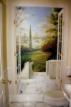 Murals Trompe L Oeil Design Ideas, Pictures, Remodel, and Decor