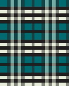Preppy Tartan Teal Plaid Pattern Art Print by The BeezKneez