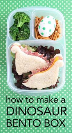 How to Make an EASY Dinosaur Bento Box -- I PROMISE!