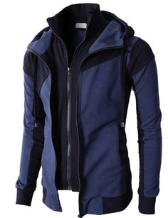 Casual Hoodie Zip-Up Lightweight Jackets Style no : #KMOHOL076 Contrast Color Combination Trim