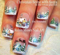 Nail Art Tutorial | DIY Winter Wonderland Nails | Christmas Nail Designs