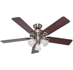 "View the Hunter 53117 Sontera 52"" 5 Blade Ceiling Fan with WhisperWind and Dust Armor Technology - Blades, Light Kit, and Remote Included at Build.com."