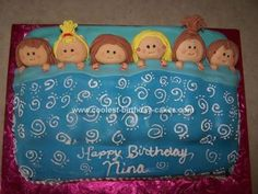 Homemade Slumber Party Cake: I got the idea for this slumber party cake from this website! I made it for my neice's 10th birthday and the kids loved it! I am just learning how to decorate