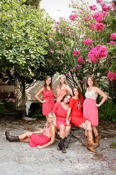 staggered full length group pose; friends photos; photo shoot ~ just some pretty girls being best friends » Abi Ruth