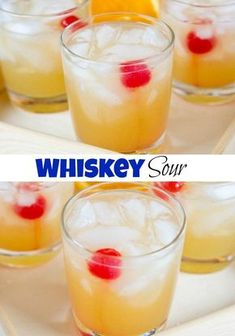 Whiskey Sour Recipe - a classic whiskey cocktail that is sweet and tangy and delicious. Super easy to make and great for any occasion. Whiskey Mixed Drinks, Mixed Drinks Alcohol, Alcohol Drink Recipes, Wine Drinks, Wine Recipes, Whiskey Sour Mix, Irish Whiskey, Shots Drinks, Easy Mixed Drinks