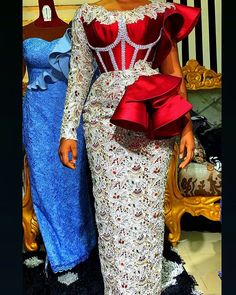 View latest lace styles for ladies African Wear Dresses, African Fashion Ankara, Latest African Fashion Dresses, African Print Fashion, African Wedding Attire, African Attire, African Print Dress Designs, African Lace Styles, Lace Dress Styles