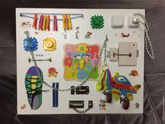Купить Бизиборд / Развивающая доска / Доска Монтессори - комбинированный, бизиборд, развивающая игрушка