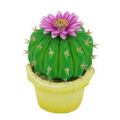 Cactus : Notocactus uebelmannianus,Decorative,Paper Craft,cactus,potted plant,green,flower,Plant ,Pot