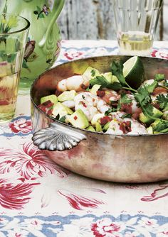 Ceviche with shrimp and avocado