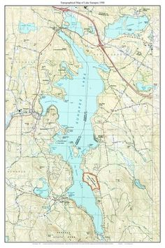 Topographic Map Of New England.38 Best New Hampshire Lakes Old Maps Images New Hampshire