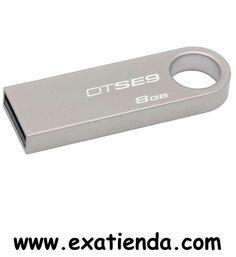 Ya disponible MEMORIA USB 2.0 KINGSTON  8GB PLATEADA                      (por sólo 8.56 € IVA incluído):   -Capacidad: 8GB -Interface: USB 2.0 -Velocidad lectura: 10MB/s -Velocidad escritura: 5MB/s -Otros:-  -P/N:DTSE9H/8GB Garantía de 24 meses.  http://www.exabyteinformatica.com/tienda/3138-memoria-usb-2-0-kingston-8gb-plateada #memoria #exabyteinformatica
