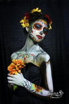 ❁☠❀ Dia de Los Muertos  ❀☠❁ by Lyma Makeup Art (Lymari Millot)