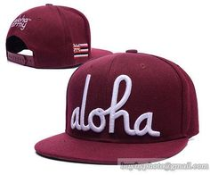 3601fd5bcf5 Street Brands Hiphop Snapbacks · Cheap Wholesale In4mation Aloha Army Snapback  Hats Caps Wine Red for slae at US 8.90