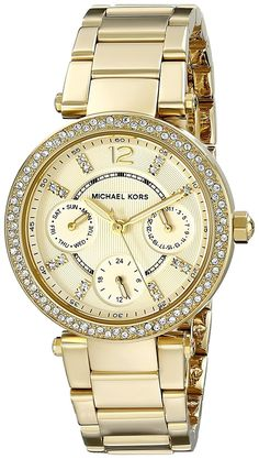 Michael Kors Watches Mini Parker Multifunction Stainless Steel Watch      New and awesome product cc1b05b92c
