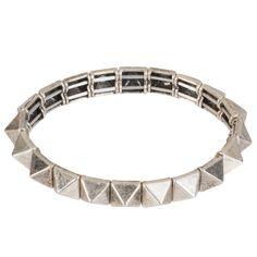 Kirra Tate Pyramid Silver Bracelet as seen in Redbook July/August 2013.